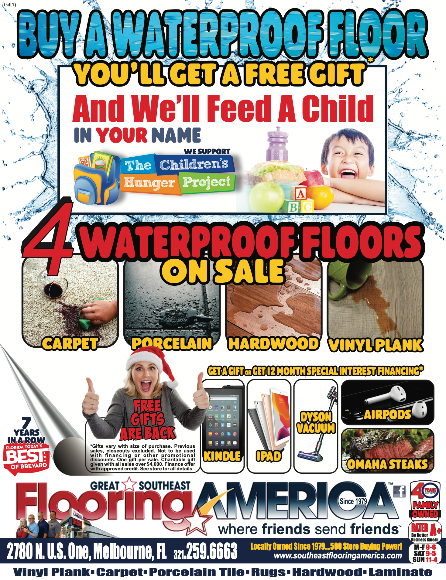 Buy a Waterproof Floor, You'll Get a Free Gift