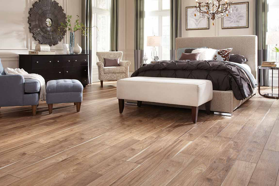 Laminate Hardwood Bedroom Flooring Example